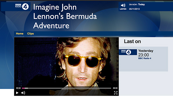 BBC RADIO 4 - IMAGINE LENNON'S ADVENTURE - Monday Nov 4 @ 11pm