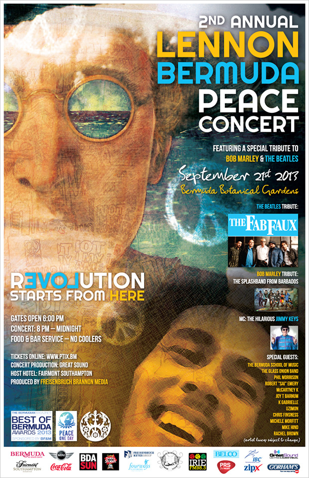 The 2nd annual Lennon Bermuda Peace day concert
