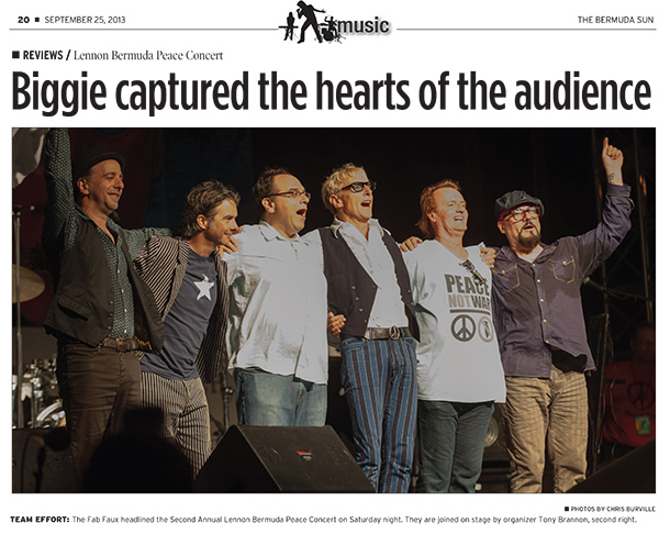 Biggie captured the hearts of the audience - Bermuda Sun Sept 25
