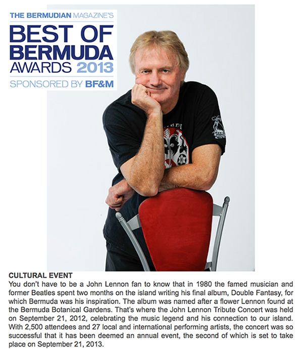 Best of Bermuda - Awards 2013